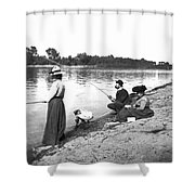 Family Fishiong Shower Curtain
