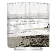 Family Fun At The Beach Shower Curtain