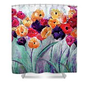 Family Gathering Painting By Lisa Kaiser Shower Curtain