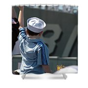Family Members Welcome Home The Sailors Shower Curtain