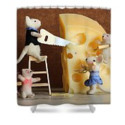 Family Mouse Shower Curtain