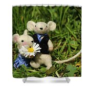 Family Mouse On The Spring Meadow .1. Shower Curtain