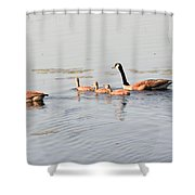 Family Of Five Shower Curtain