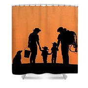 Family Of The West Shower Curtain