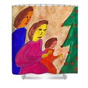 Family Praise Shower Curtain
