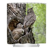 Family Shower Curtain by Ronnie and Frances Howard