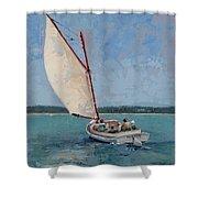Family Sail Shower Curtain