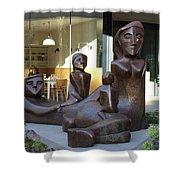 Family Sculpture Shower Curtain