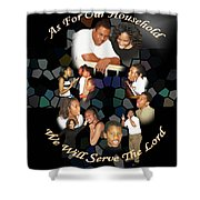 Family Serving Shower Curtain