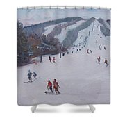 Family Ski Shower Curtain