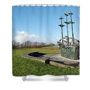 Famine Ship  Shower Curtain