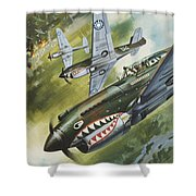 Famous Aircraft And Their Pilots Shower Curtain