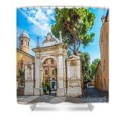 Famous Arc From Basilica Di San Vitale In Ravenna, Italy Shower Curtain