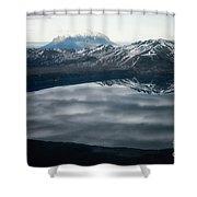 Famous Mountain Askja In Iceland Shower Curtain