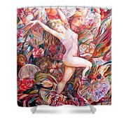 Fan Dance Unveiled Shower Curtain