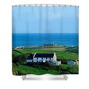 Fanad Lighthouse, Fanad, County Donegal Shower Curtain
