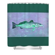 Fanciful Lavender Mint Sea Trout Shower Curtain by Shelli Fitzpatrick
