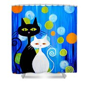 Fancy Cats Shower Curtain