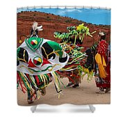 Fancy Shawl Dancer At Star Feather Pow-wow Shower Curtain