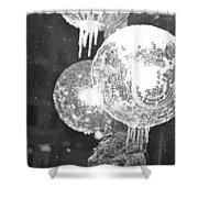 Faneuil Hall Lollypop Light Icicles Boston Ma Black And White Shower Curtain
