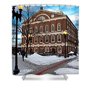 Faneuil Hall Winter Shower Curtain
