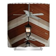 Fans And Lights Shower Curtain