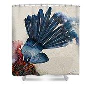 Fantail Flycatcher Shower Curtain