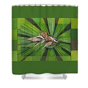 Fantail Palm Plateau Shower Curtain