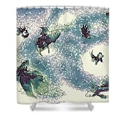Fantails Shower Curtain