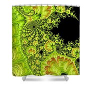 Fantastic Abstract On Black Shower Curtain