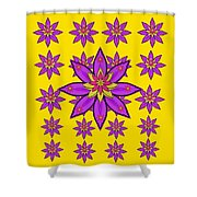 Fantasy Big Flowers In The Happy Jungle Of Love Shower Curtain