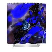Fantasy Blue Butterfly Shower Curtain