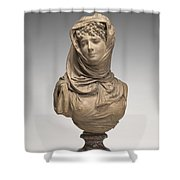 Fantasy Bust Of A Veiled Woman (marguerite Bellanger?) Shower Curtain