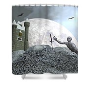 Fantasy Castle - 3d Render Shower Curtain