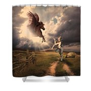 Fantasy Creatures 1 Shower Curtain