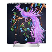 Fantasy Feather Bird Shower Curtain