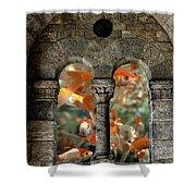 Fantasy Goldfish Aquarium Shower Curtain