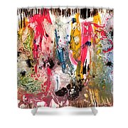 Fantasy Iland Abstract  Shower Curtain