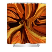 Fantasy In Orange Shower Curtain
