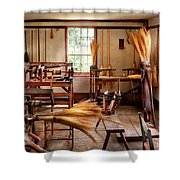 Fantasy - In The Witches Workshop Shower Curtain by Mike Savad