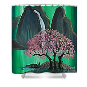 Fantasy Japan Shower Curtain