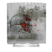 fantasy on theme War the Worlds by Herbert Wells Shower Curtain