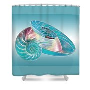 Fantasy Seashells Entwined Shower Curtain