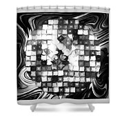 Fantasy Tiles Abstract Shower Curtain