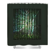 Fantasy Tree On Bamboo Shower Curtain