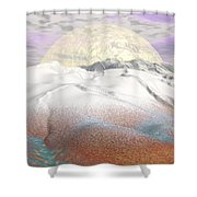 Fantasy Winter Landscape - 3d Render Shower Curtain