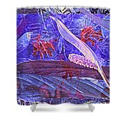 Fantasy With African Violets And Peace Lily 46 Shower Curtain