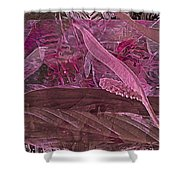 Fantasy With African Violets And Peace Lily 7 Shower Curtain