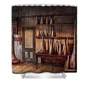 Fantasy - Wizard Hat Prototype Lab Shower Curtain