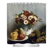 Fantin-latour: Fruits, 1865 Shower Curtain